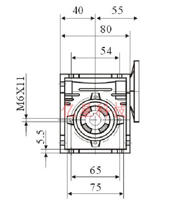 Фото 2 - Комплект червячный редуктор NMRV30 + шаговый двигатель 57.