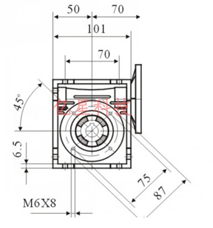 Фото 2 - Комплект червячный редуктор NMRV40 + шаговый двигатель 86.
