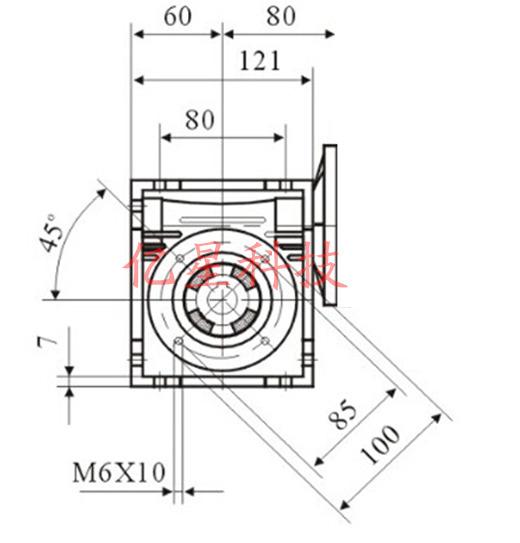 Фото 3 - Комплект червячный редуктор NMRV50 + шаговый двигатель 110BYG350A.