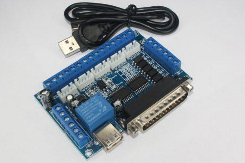 Фото 4 - Интерфейсная плата LPT на 5 осей BL-MACH-V1.1  синяя.