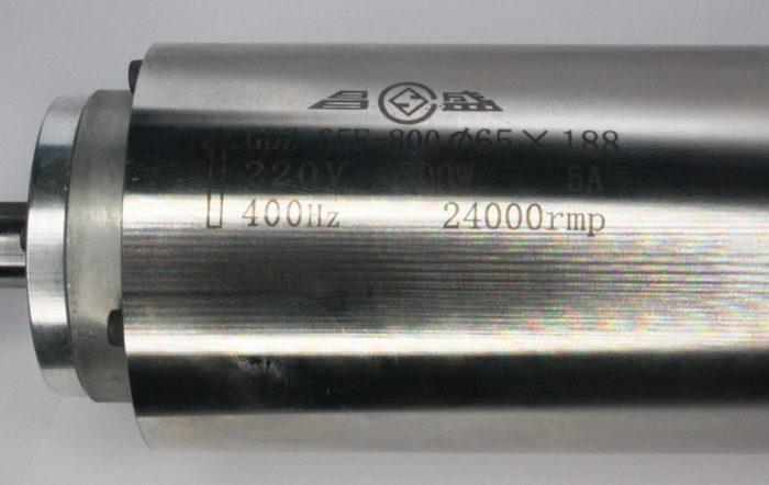Фото 2 - Шпиндель  GDZ-65F-800 с воздушным охлаждением 0.8 кВт ER11.