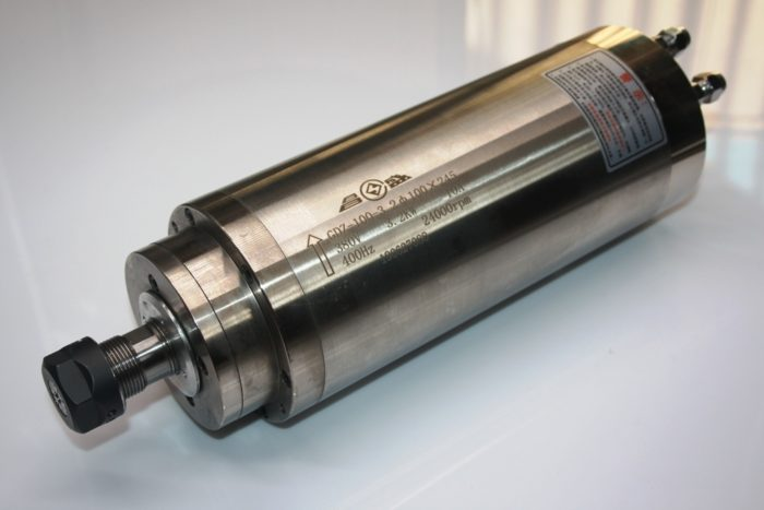 Фото 2 - Шпиндель GDZ-100-3.2 с водяным охлаждением 3.2 кВт (380v).
