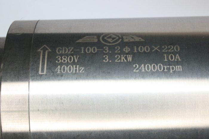 Фото 3 - Шпиндель GDZ-100-3.2 с водяным охлаждением 3.2 кВт (380v).
