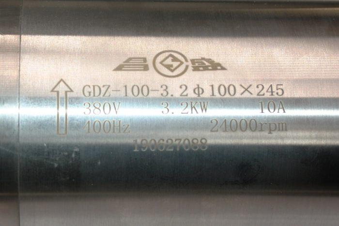 Фото 4 - Шпиндель GDZ-100-3.2 с водяным охлаждением 3.2 кВт (380v).
