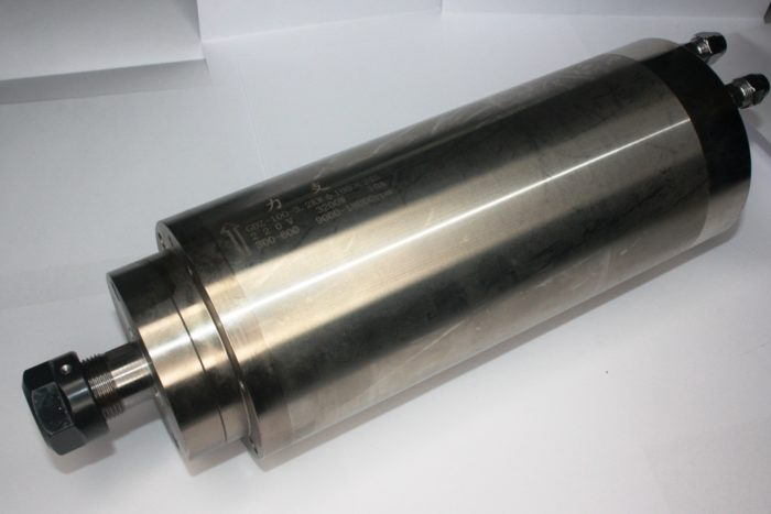 Фото 1 - Шпиндель GDZ-100-3.2 с водяным охлаждением 3.2 кВт (220v, 9000-18000rpm).
