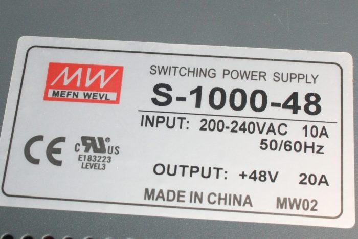 Фото 2 - Блок питания S-1000-48 20А.