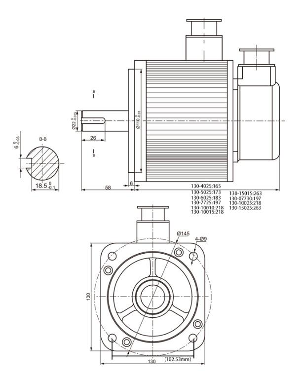 Фото 3 - Комплект сервомотор ACSM130-G06025LZ 1500W, серводрайвер H3N-TD.