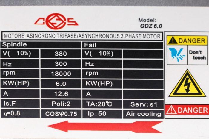Фото 2 - Шпиндель GDZ 6,0 с воздушный охлаждением 6 кВт ER32 (380V).