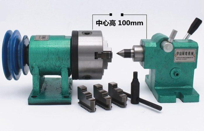 Фото 1 - Комплект токарного привода с прижимной бабкой 100мм.
