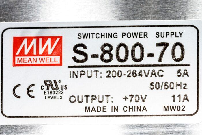 Фото 2 - Блок питания S-800-70 11А.