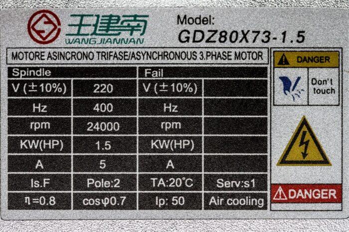 Фото 3 - Шпиндель GDZ 80X73-2.2 с воздушный охлаждением 2.2 кВт ER20.