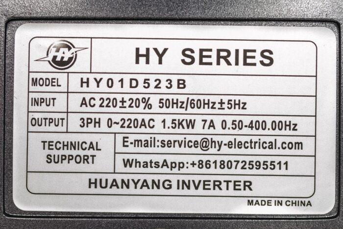 Фото 3 - Инвертор HY01D523B 1.5 кВт.