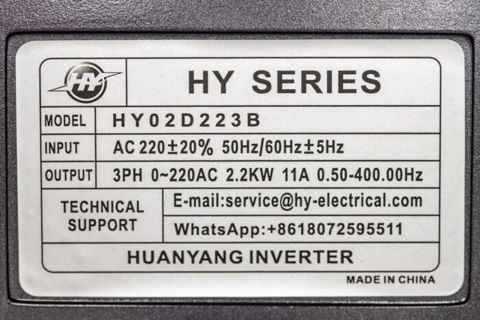 Фото 2 - Инвертор HY02D223B 2.2кВт.
