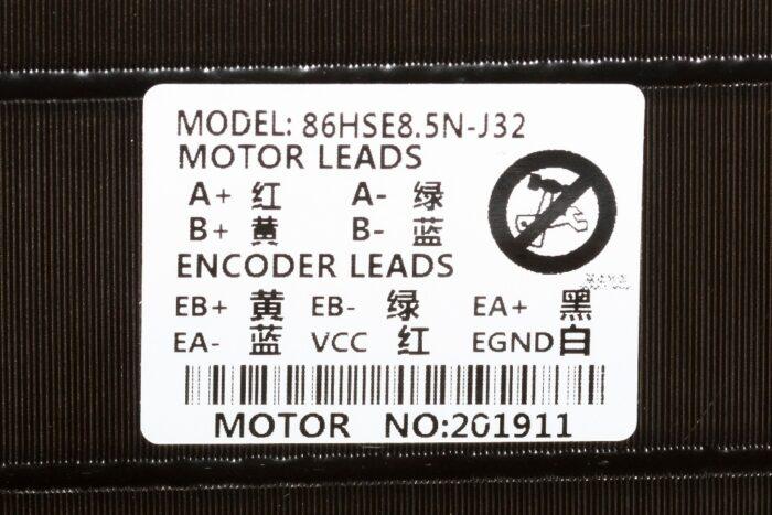 Фото 2 - Шаговый двигатель 86HSE8.5N-BC38 с энкодером 8.5Нм.