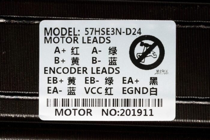 Фото 2 - Шаговый двигатель с энкодером 57HSE3N-D24.