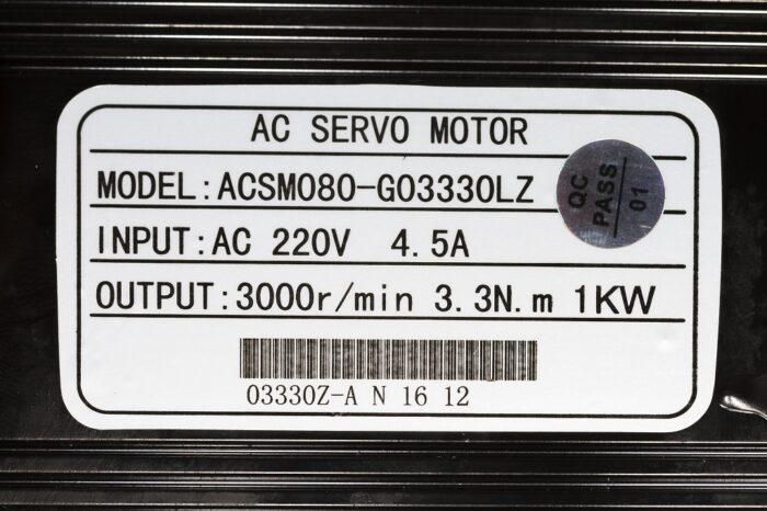Фото 5 - Комплект сервомотор ACSM080-G0330LZ 1000W, серводрайвер H3N-DD.