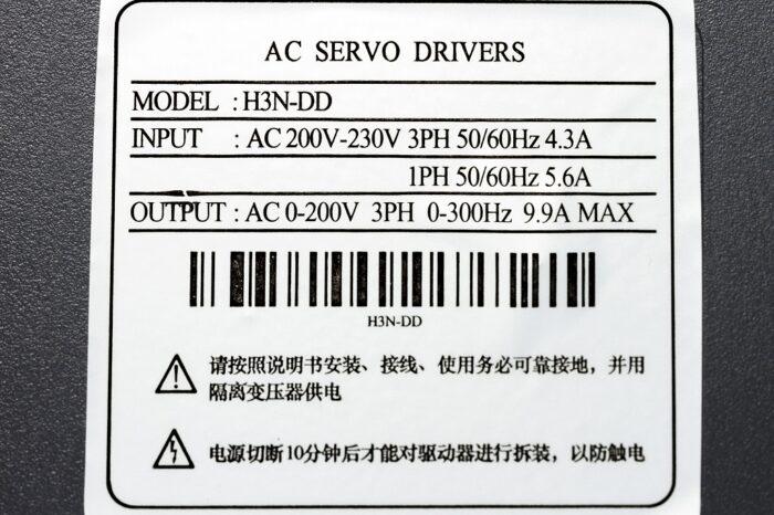Фото 6 - Комплект сервомотор ACSM080-G0330LZ 1000W, серводрайвер H3N-DD.