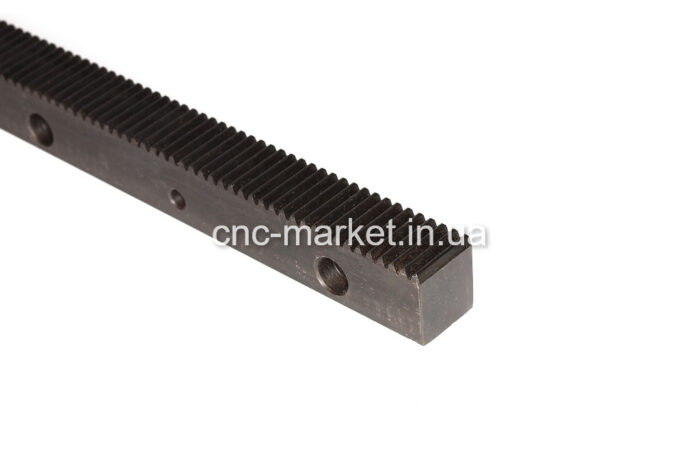 Фото 1 - Зубчатая рейка модуль  М1.25  (прямозубая с отверстиями).