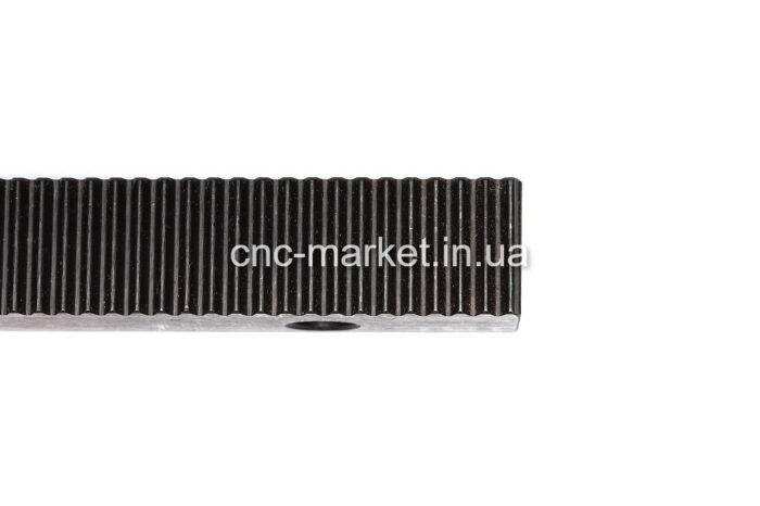 Фото 2 - Зубчатая рейка модуль  М1.25  (прямозубая с отверстиями).