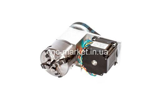 Фото 2 - Поворотная ось с ременной передачей 1:3 (шаговый двигатель 86HS82) 4-х кулачковый.