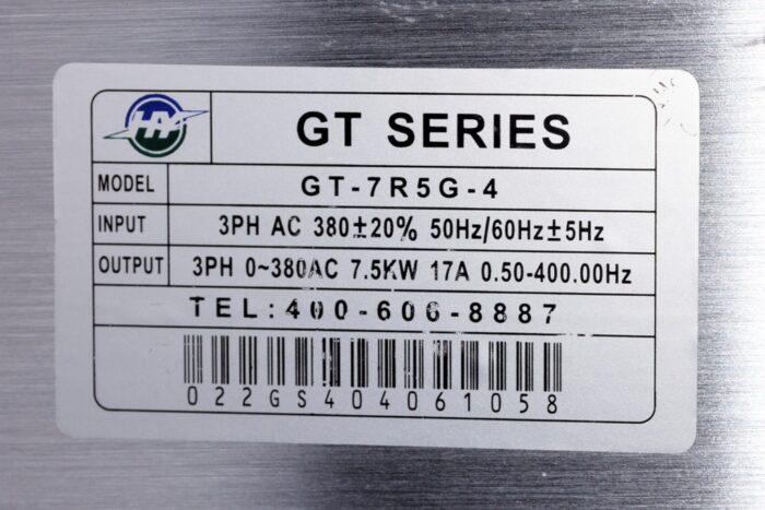 Фото 2 - Инвертор HY GT-7R5G-4 7.5 кВт (380V).