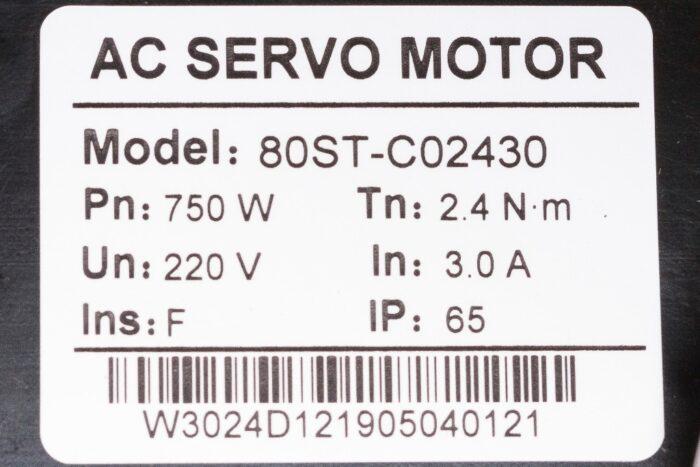 Фото 2 - Комплект сервомотор 80ST-C02430LB 750W, серводрайвер H2N-15A.