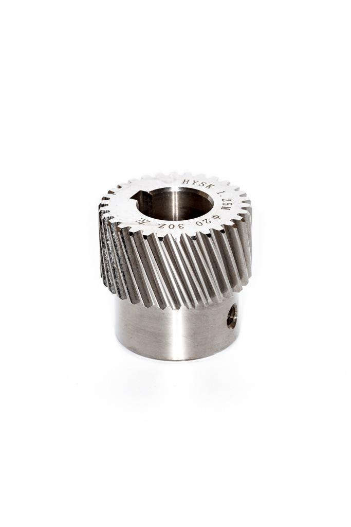 Фото 3 - Зубчатые колеса (модуль 1.25) косой зуб M1.25-Z30-20 (шпонка 5).