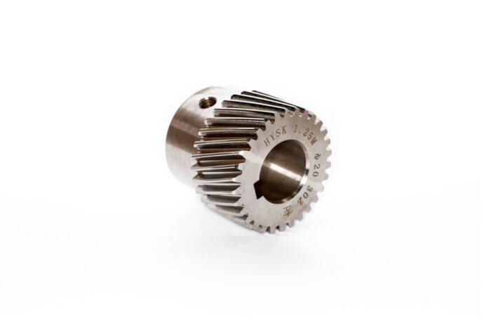 Фото 2 - Зубчатые колеса (модуль 1.25) косой зуб M1.25-Z30-20 (шпонка 5).
