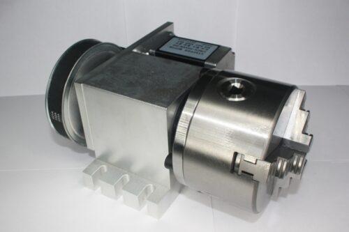 Фото 10 - Поворотная ось с ременной передачей 1:6 (шаговый двигатель 57HS76) 4-х кулачковый.