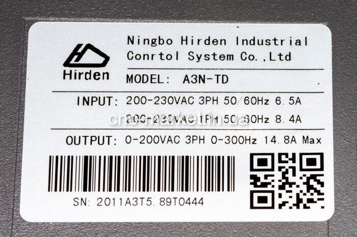 Фото 5 - Комплект сервомотор M1106030FN12COAO 1880W, серводрайвер A3N-TD.